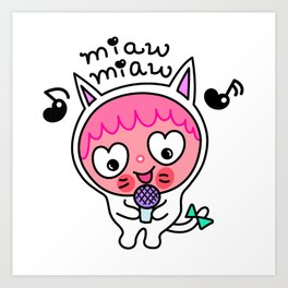 Pinky & choco : MIAW MIAW Art Print