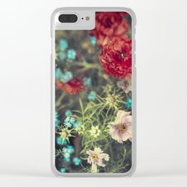 Spring Message - Colourful Flowers Clear iPhone Case
