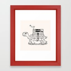 Tortoise Wax Framed Art Print