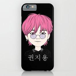 G-Dragon Cartoon Black iPhone Case