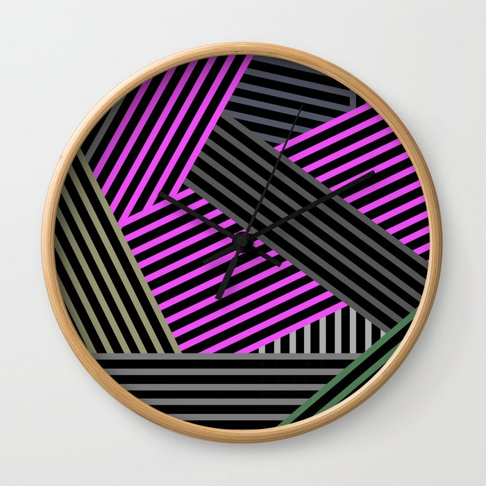 Abstract striped background 2 Wall Clock