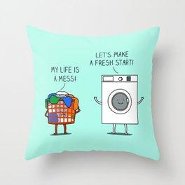 Clean start Throw Pillow