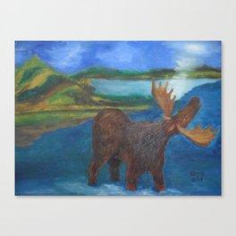 MOOSE CALL SCENERY Canvas Print