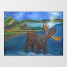MOOSE CALL SCENERY Canvas Print