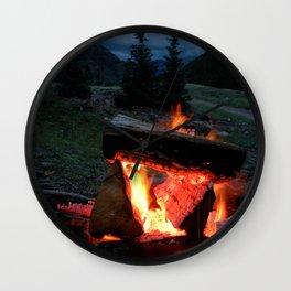 evening warmth Wall Clock