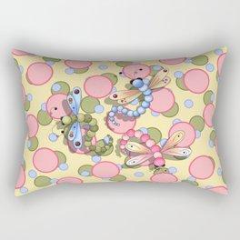 Dragonflies & Polka Dots Rectangular Pillow