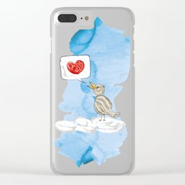 The bird on the cloud Clear iPhone Case