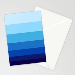 Colorful Blue Gradient Geometric Pattern Stationery Cards