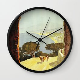 1920s Alassio Italy Wall Clock