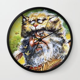 Bugged Mountain Man Wall Clock
