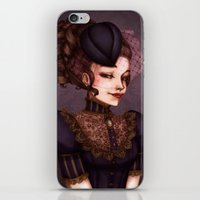 the vampire diaries iPhone & iPod Skins featuring Vampire by Christine Alcouffe