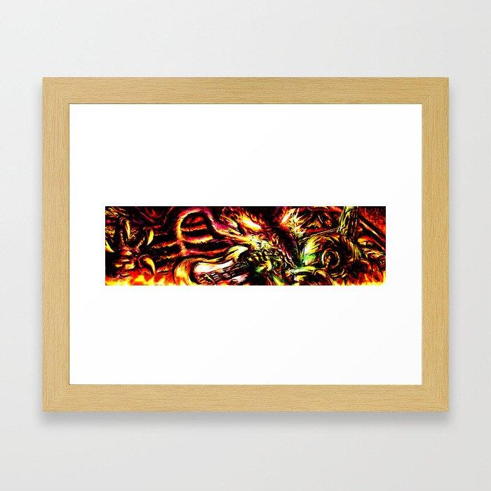 Metroid Metal: Ridley- Through the Fire.. Framed Art Print