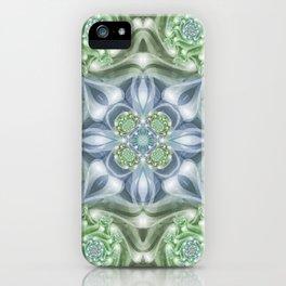 Shades of Green Mandala iPhone Case