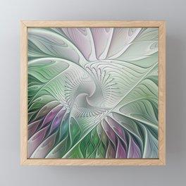 Colorful Fantasy Flower, Abstract Fractal Art Framed Mini Art Print