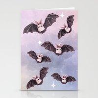 bat Stationery Cards featuring ✞ Bat ✞ by Lili Um