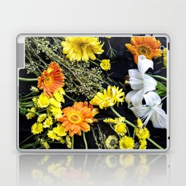 Fresh blooms on black Laptop & iPad Skin
