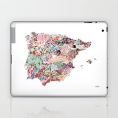 Spain map flowers composition Laptop & iPad Skin