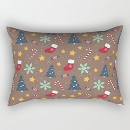 It's Christmas Time Colourful Pattern II Rectangular Pillow