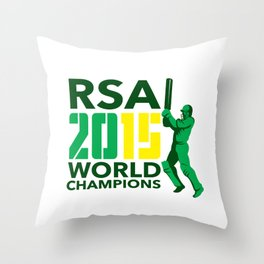 South Africa SA Cricket 2015 World Champions Throw Pillow