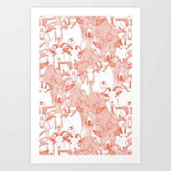just goats flame orange Art Print