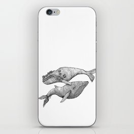 A Couple Of Whales  by Michelle Scott of dotsofpaint studios iPhone Skin