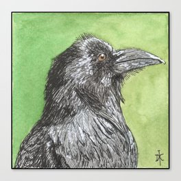 Majestic Raven Canvas Print