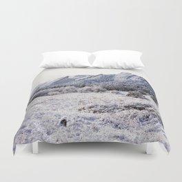 Winter Flatirons 35mm Duvet Cover