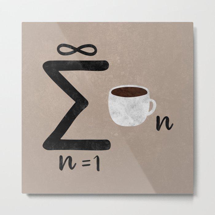 Infinite Coffee Metal Print