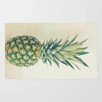 pineapple Area & Throw Rugs featuring Pineapple by Cassia Beck