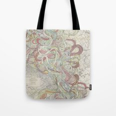 Beautiful Map of the Lower Mississippi River Tote Bag