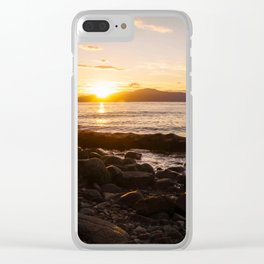 Summer Sunset Over Water Vancouver, British Columbia, Canada Clear iPhone Case