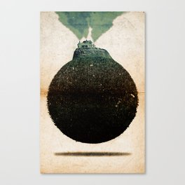 Small Polluted Planet Canvas Print