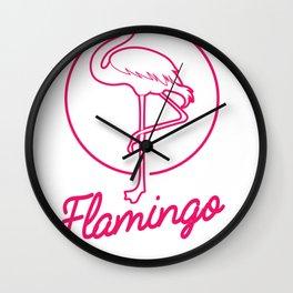 Flamingo Bird Lover Gift Idea Wall Clock