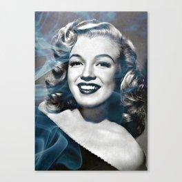 Marylin Monroe and a bit of smoke Canvas Print