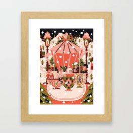 Christmas Coffee Carousel Framed Art Print