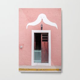 Pink House in Mexico Metal Print