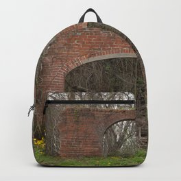 Old Brick Ruins overgrown with Vines Backpack
