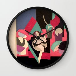 Objects on a Table Wall Clock
