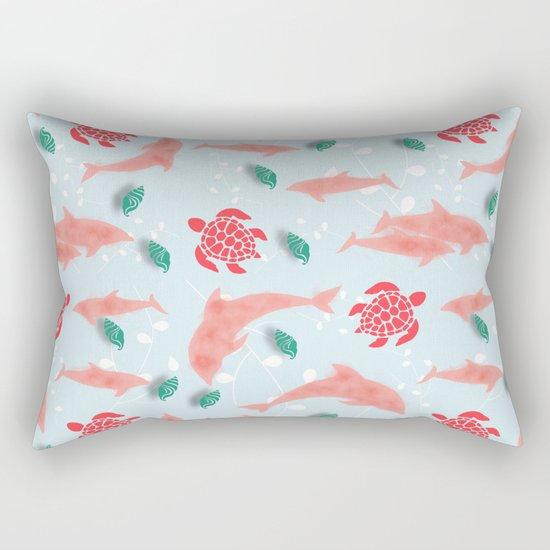 Dolphin blue Rectangular Pillow