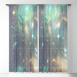 Starry Galaxy - Interstellar Dust Sheer Curtain