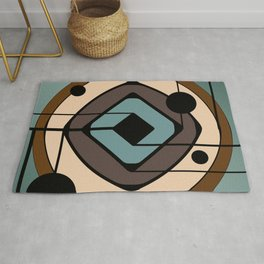 Atomic Era Abstract Art 'Coaster' Rug