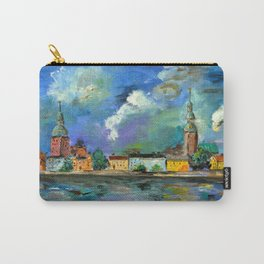A Night of Color in Riga Carry-All Pouch