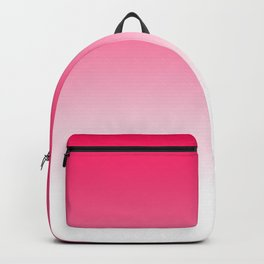 Modern bright simple neon pink white color ombre gradient Backpack