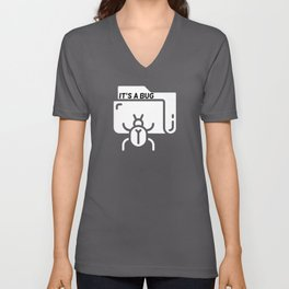 Programming Bug Programmer Developer Unisex V-Neck