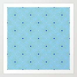 1905 bluish pattern Art Print
