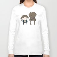 han solo Long Sleeve T-shirts featuring Han Solo & Chewie by Justin Temporal