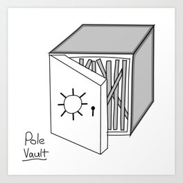 Pole vault Art Print