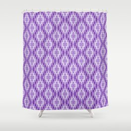 Diamond Pattern in Purple and Lavender Shower Curtain