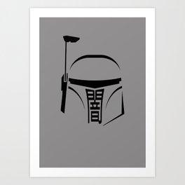 Boba Fett - Japanese kanji 'Dark' Art Print