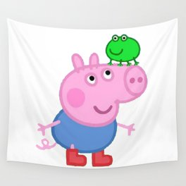 Daddy Pig Mummy Funny Wall Tapestry